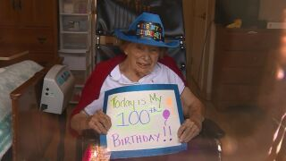 Family sings 'Happy Birthday' to 100-year-old outside nursing home amid coronavirus crisis