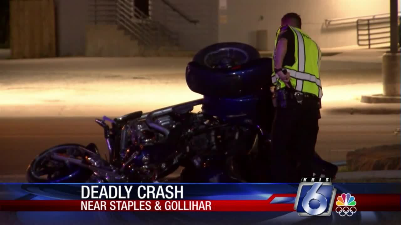 Police are investigating a fatal motorcycle crash at Gollihar and Staples.
