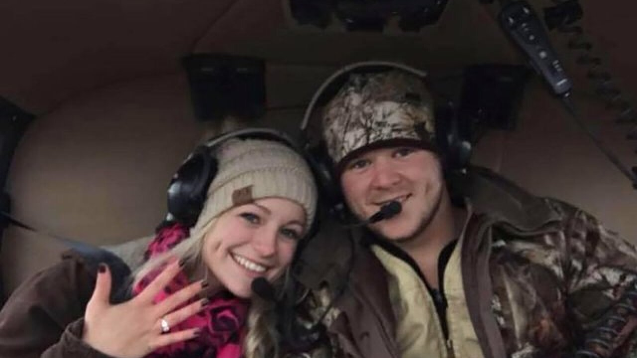 Reaching wreckage of helicopter in which newlyweds died leaving their wedding will be 'difficult'