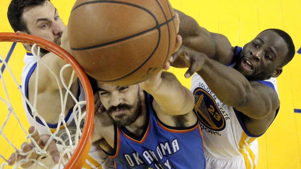 Thunder takes Warriors in Western Conf. Finals