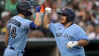 Corey Dickerson, Alejandro Kirk Blue Jays Tigers Baseball