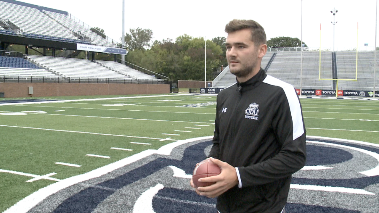 Kicker crossover: ODU men's soccer player may have football field goals infuture