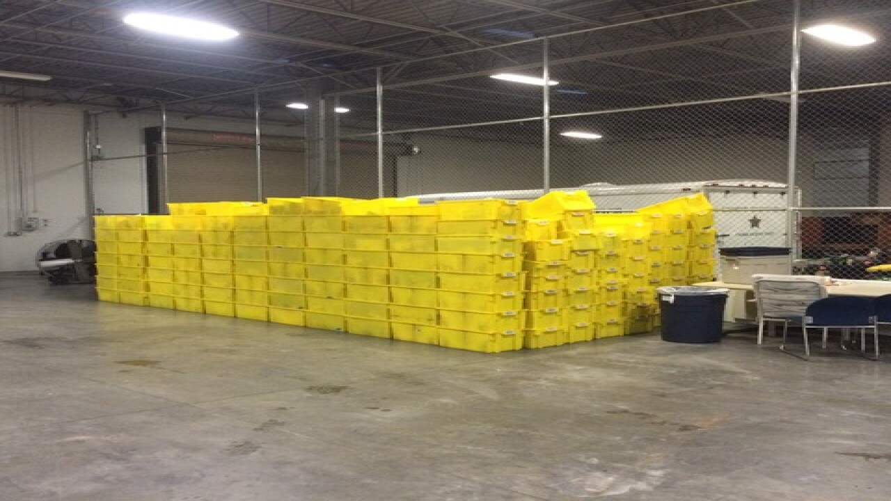 Garage full of Amazon orders found in Florida