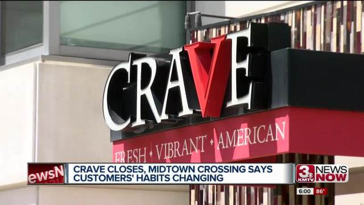 Crave closing Midtown location