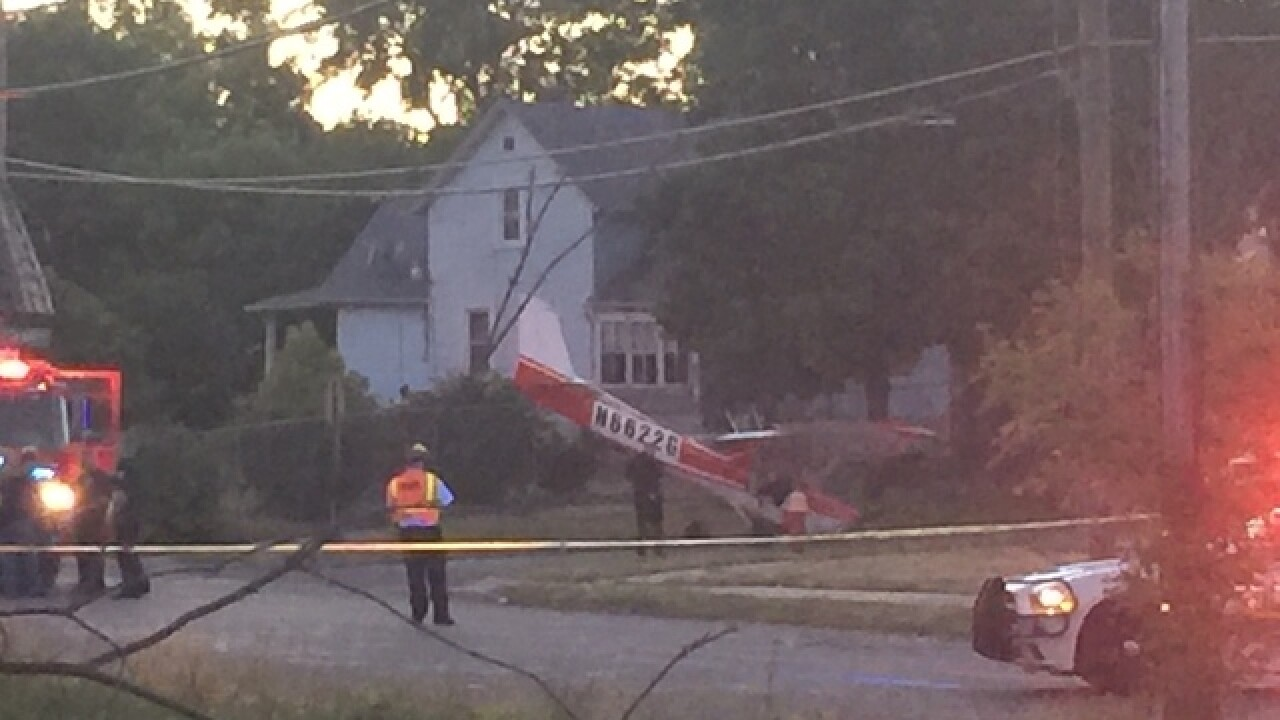Plane down near City Airport