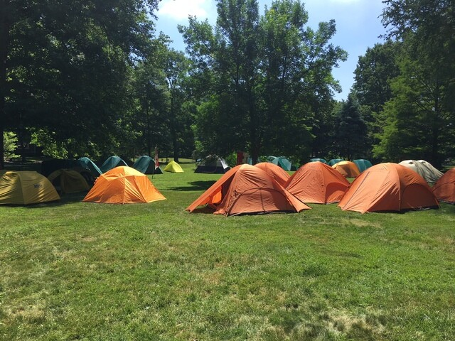 PHOTOS: Boy Scouts camp out on lawn of governor's residence