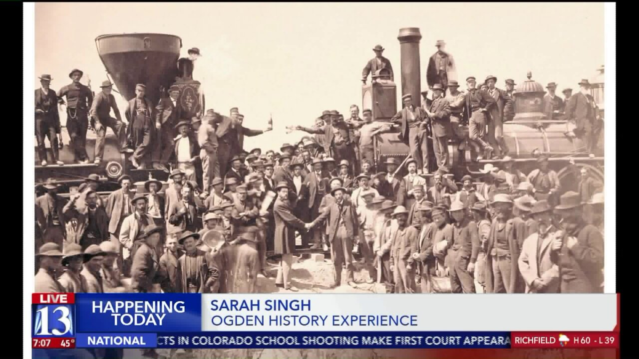 Ogden celebrates 150 year anniversary of transcontinental railroad with golden spike reenactment