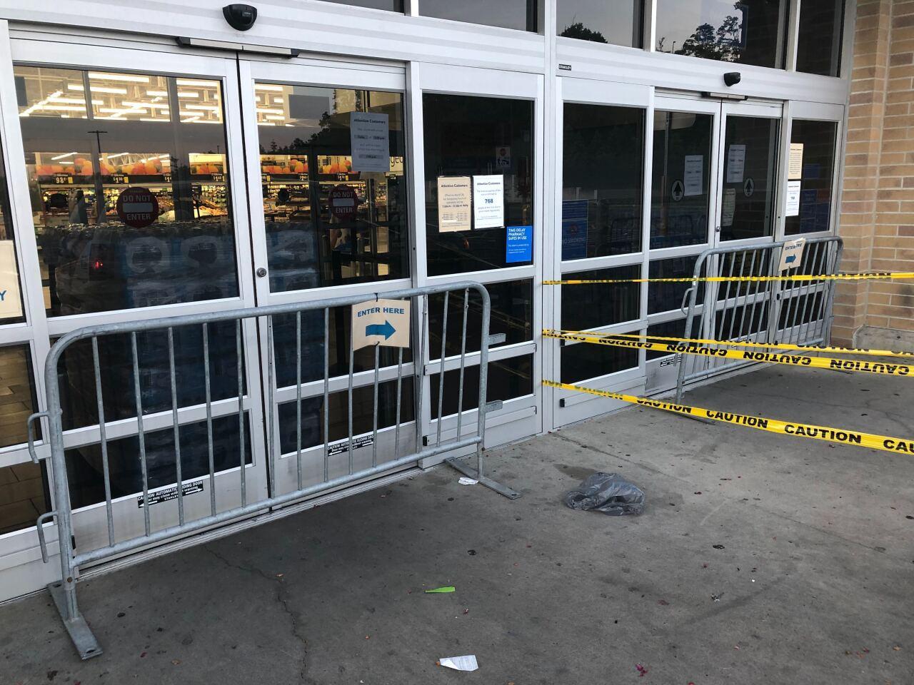 Barricades at Wal Mart