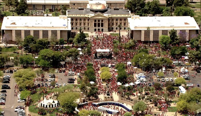 Teachers protest, hold walkout across Arizona in support of education funding
