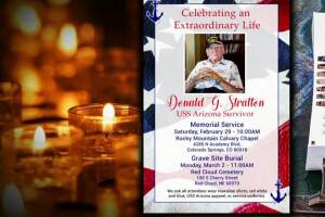 Memorial service for Donald Stratton to be held in Colorado Springs