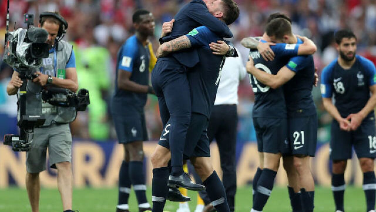 World Cup final: France crowned world champion after 4-2 win over Croatia