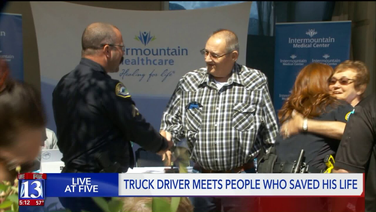 Truck driver meets bystanders who jumped in to save his life