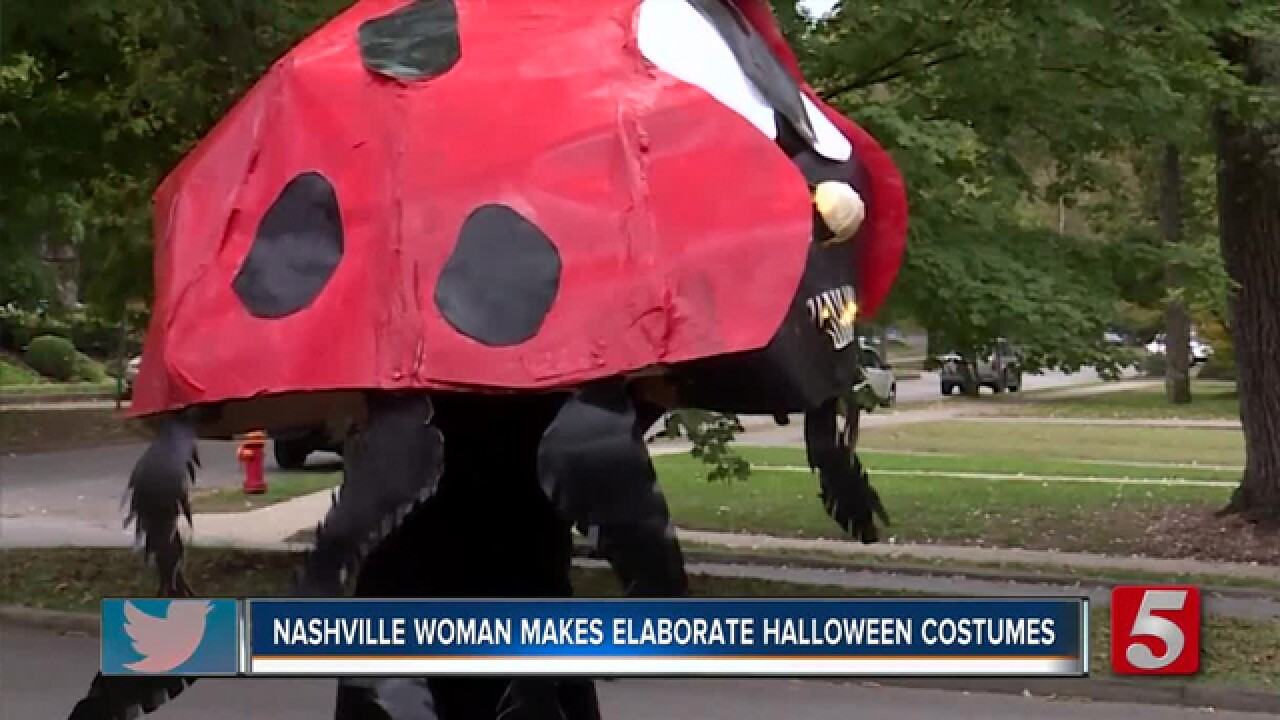 Elaborate Halloween costumes constructed by Tennessee woman