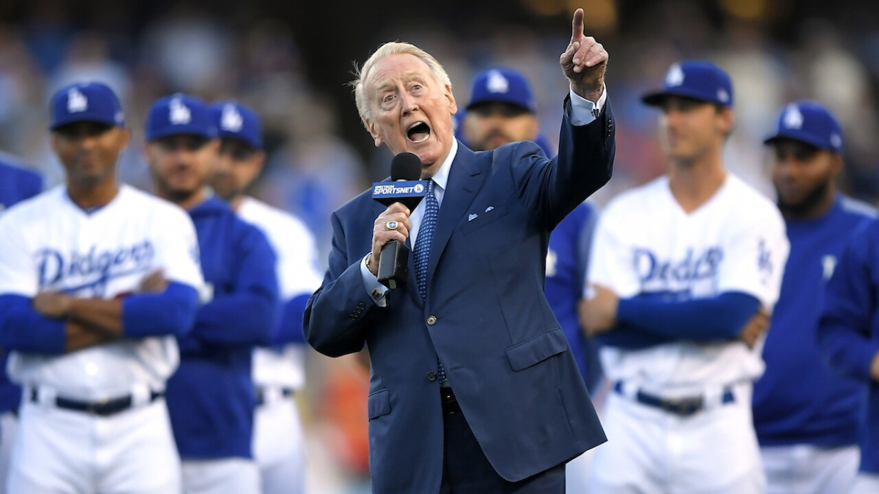 92-year-old Vin Scully hospitalized after fall at home