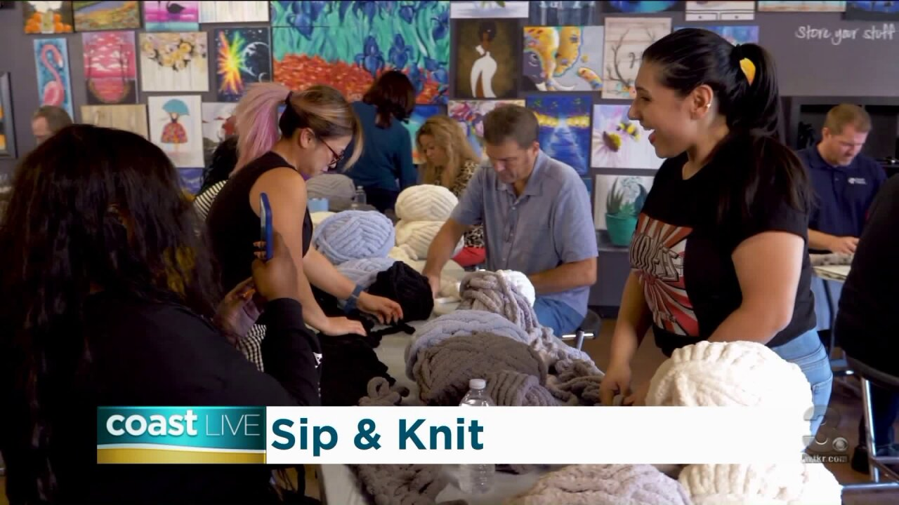 Hand-making our own chunky knit blankets on CoastLive
