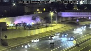 Pedestrian hit - Loop 101 and Broadway 10-19-19