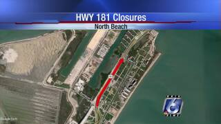 Northbound State Highway 181 road closures begin on Thursday night