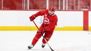 Jakub Vrana Red Wings practice