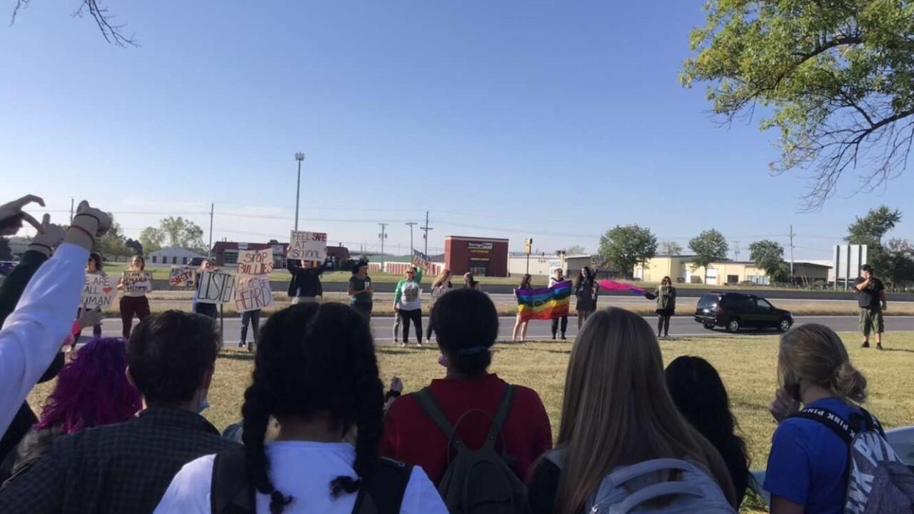 Lee's Summit High School walk out