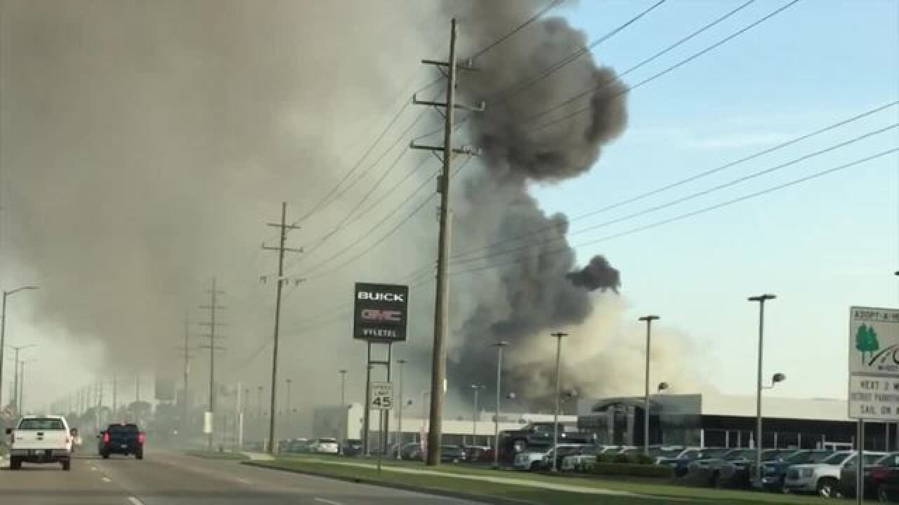 Firefighters Battle Large Fire At Buff Whelan Chevrolet In