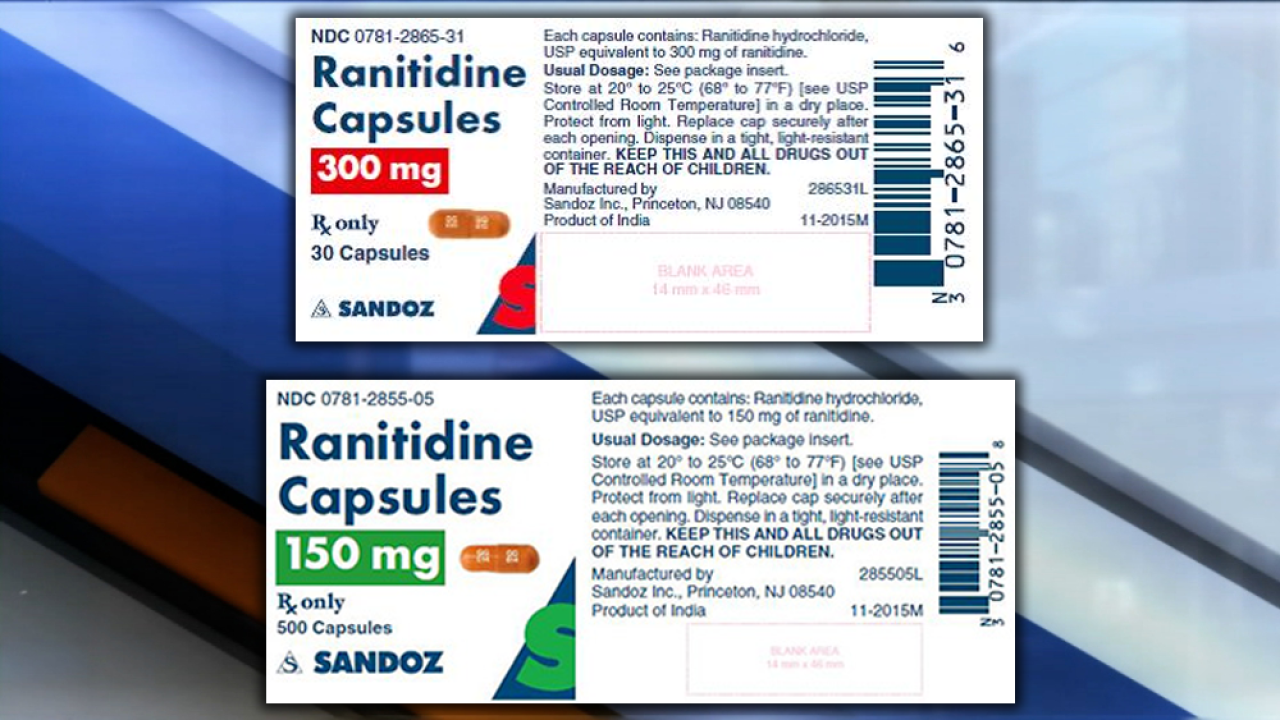 Sandoz recalls heartburn capsules due to high levels of cancer-causing substance