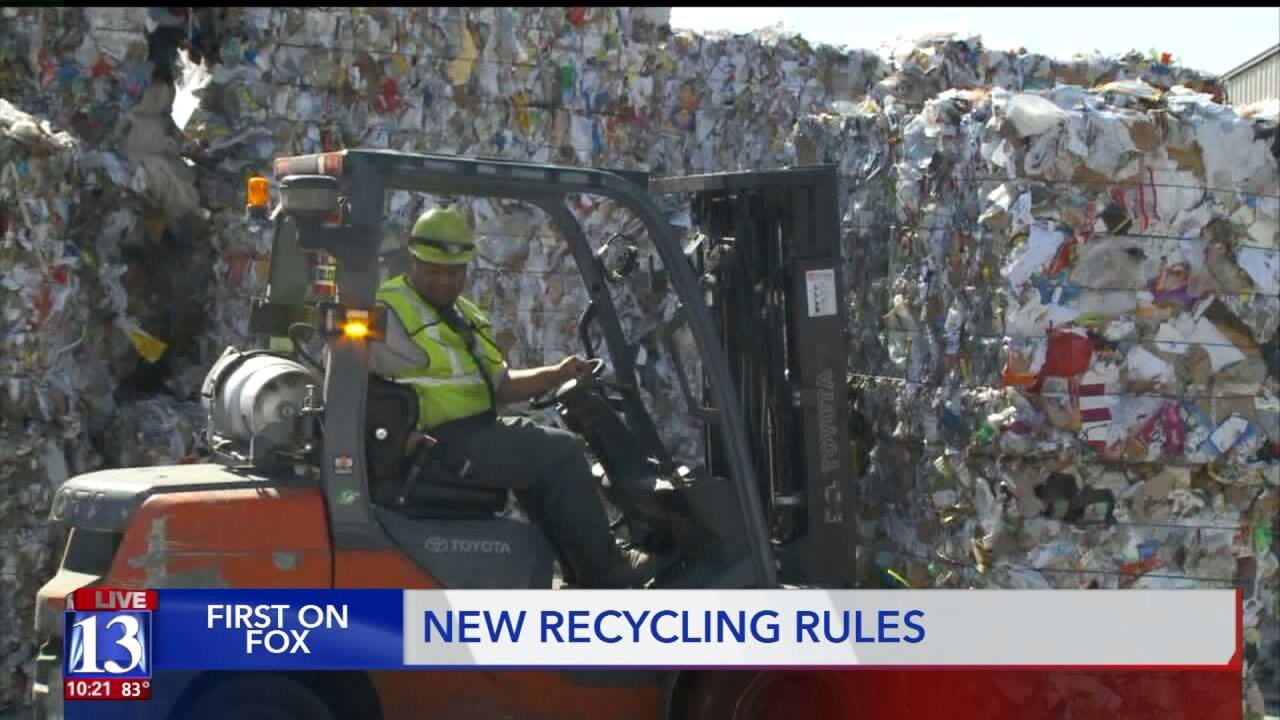Utahns impacted by recycling changes inChina
