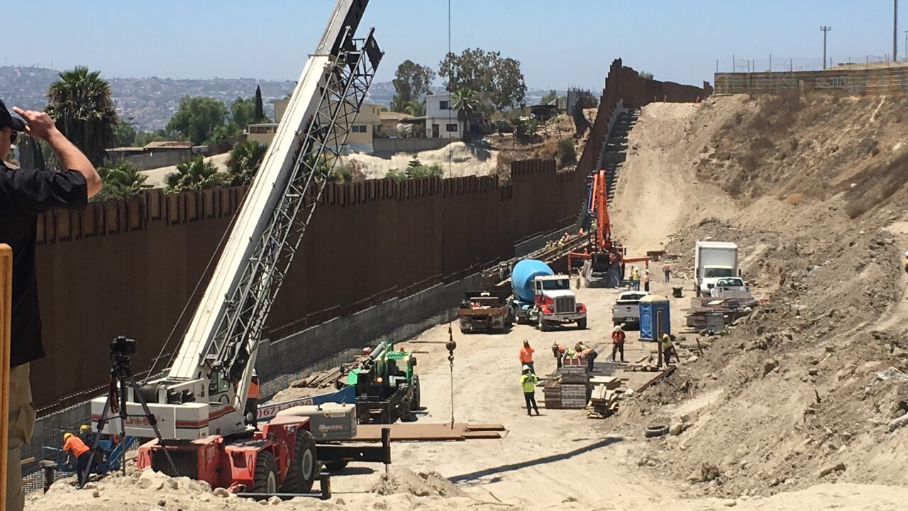 new border wall complete 2019