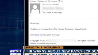 Scam Alert: FBI warns hackers are posing as HR personnel