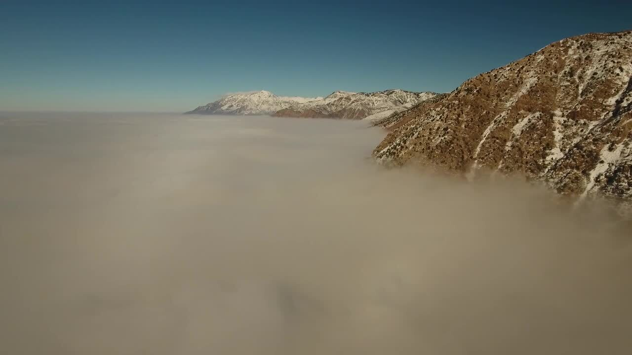 Drone captures high-flying footage above inversion nearOgden