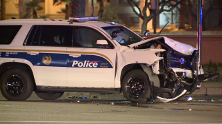 Officer involved in crash near Baseline and Central