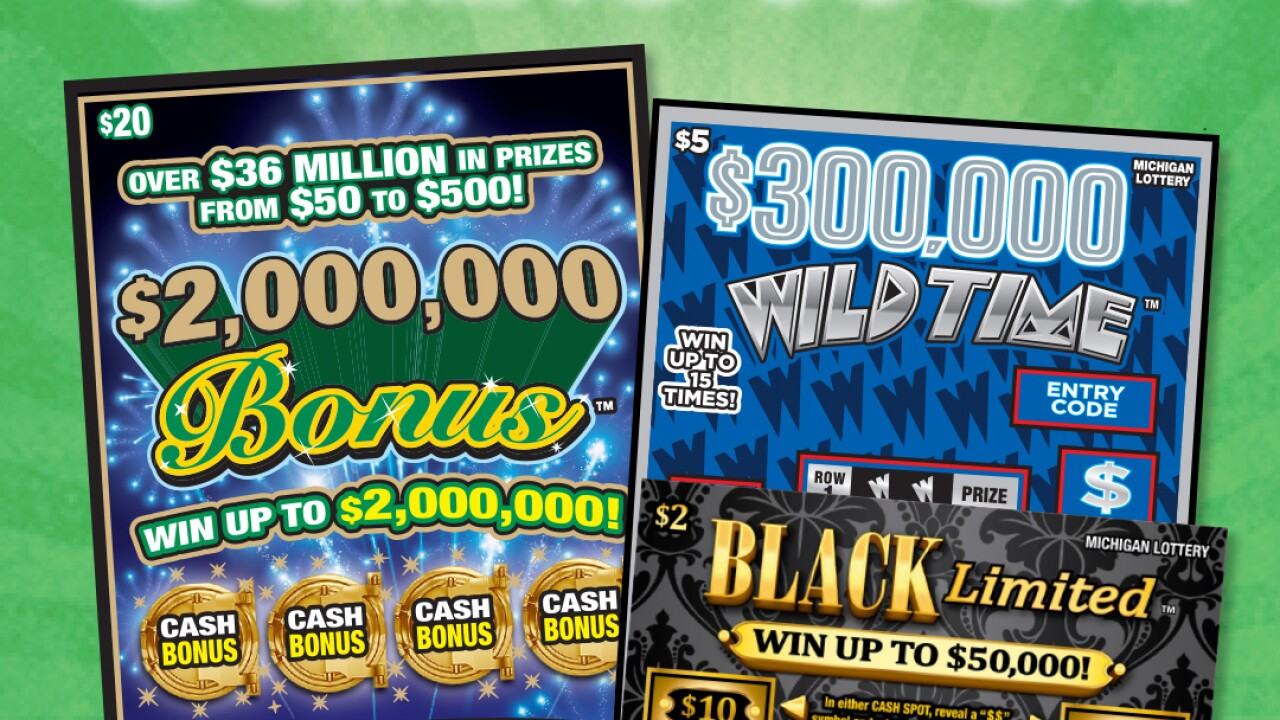 Michigan Lottery announces 3 new instant games with prizes