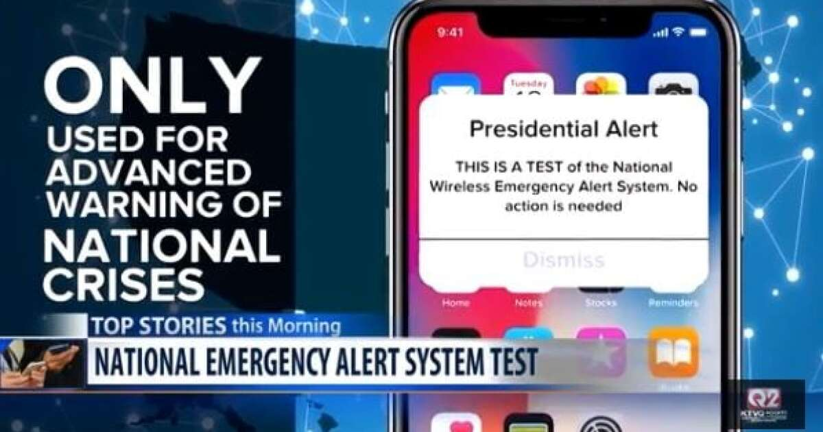 FEMA to test Wireless Emergency Alert system Wednesday afternoon
