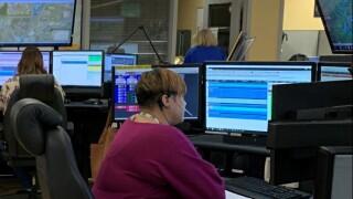 LaKisha works inside the Hamilton County 911 Communications Center during Telecommunicator Appreciation Week
