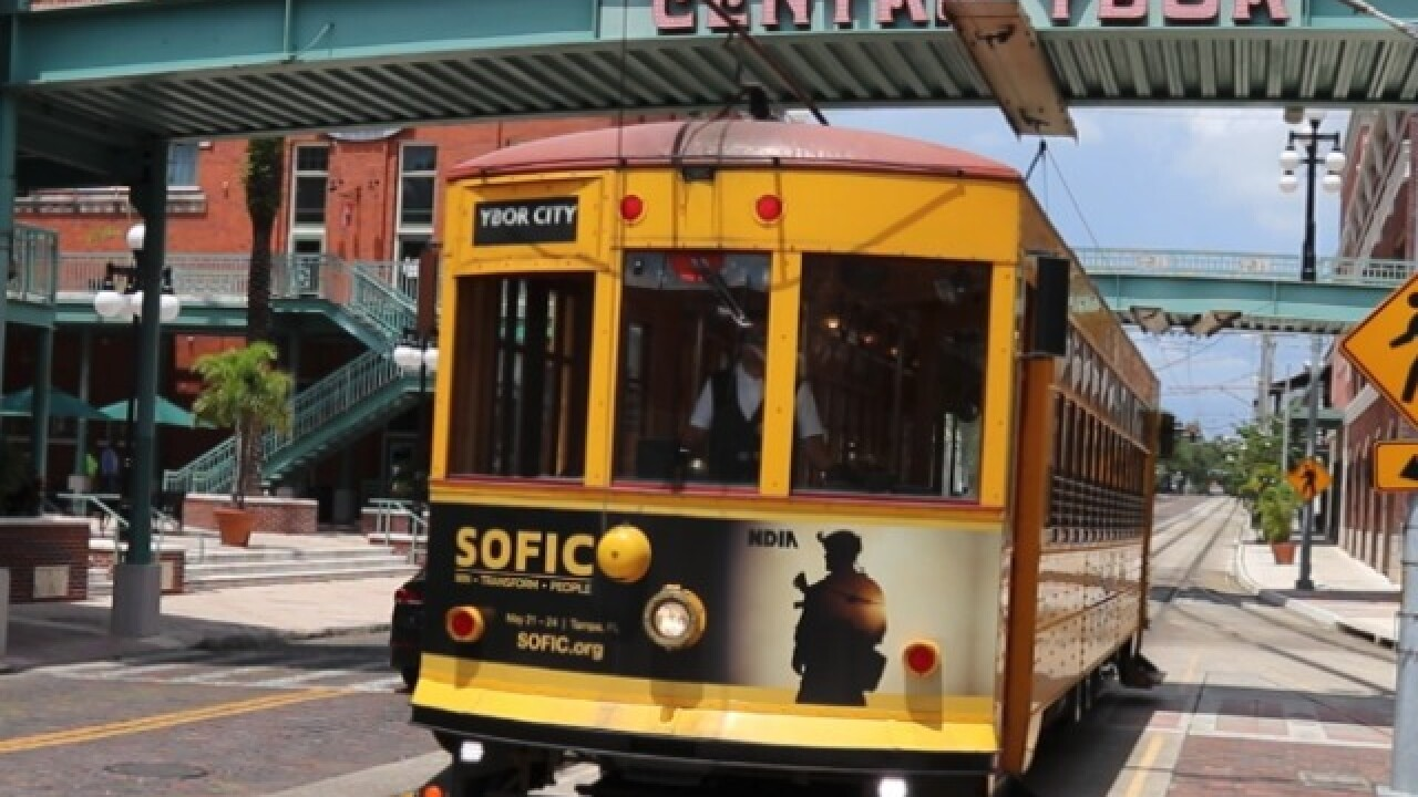 Tampa's TECO Streetcar System to be free to ride for the next three on st. louis streetcar map, tucson streetcar map, washington streetcar map, new orleans streetcar map, san francisco streetcar map, atlanta streetcar map,
