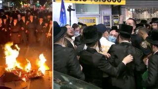 Night 2 of protests in Borough Park, Brooklyn
