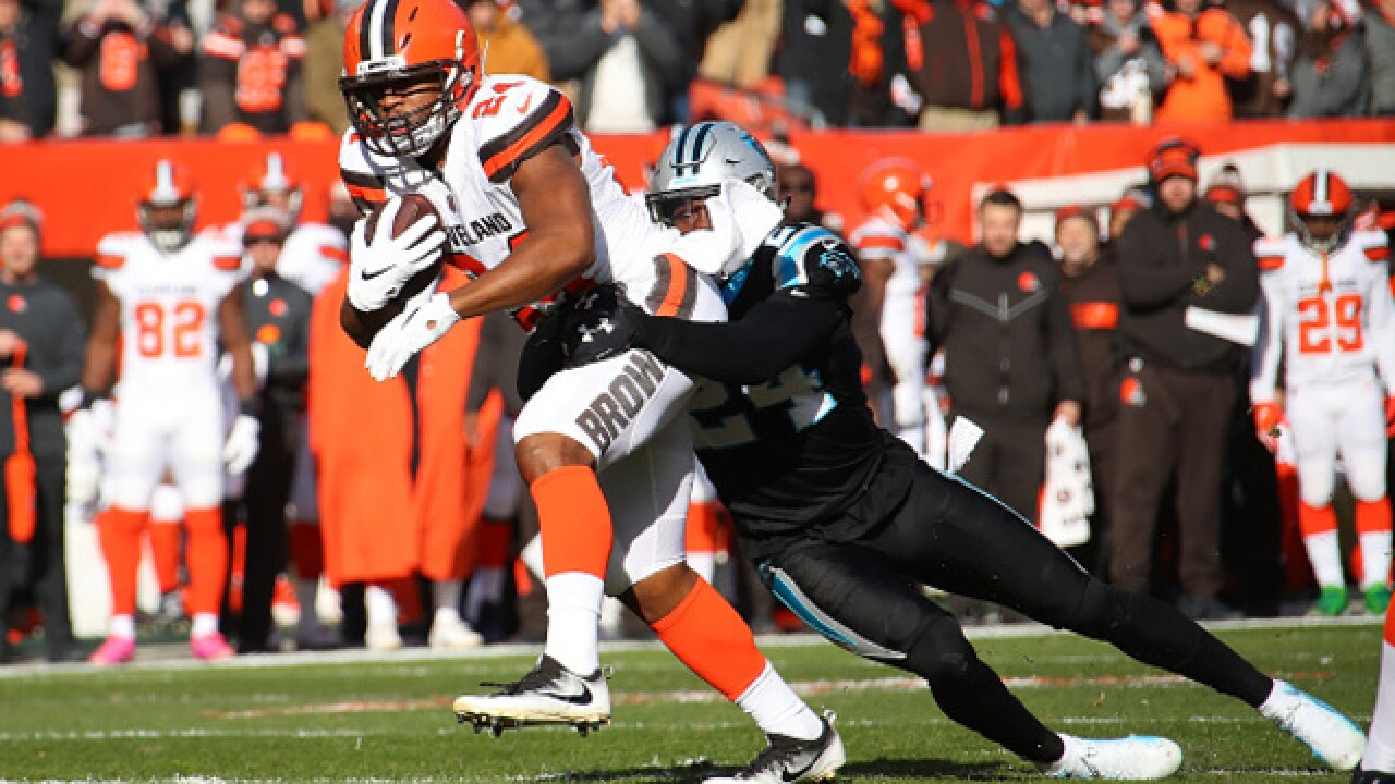 IMAGES: Browns beat Panthers, 26-20