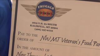 Veterans food pantry in Kalispell receives special donation from Frugals