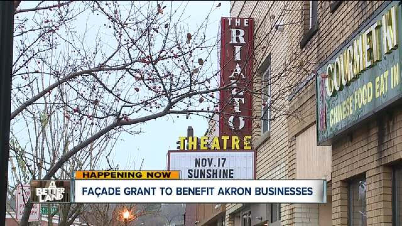 Akron gives small businesses a special grant to improve their buildings