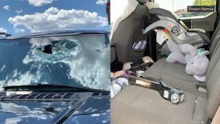 Trailer hitch through windshield