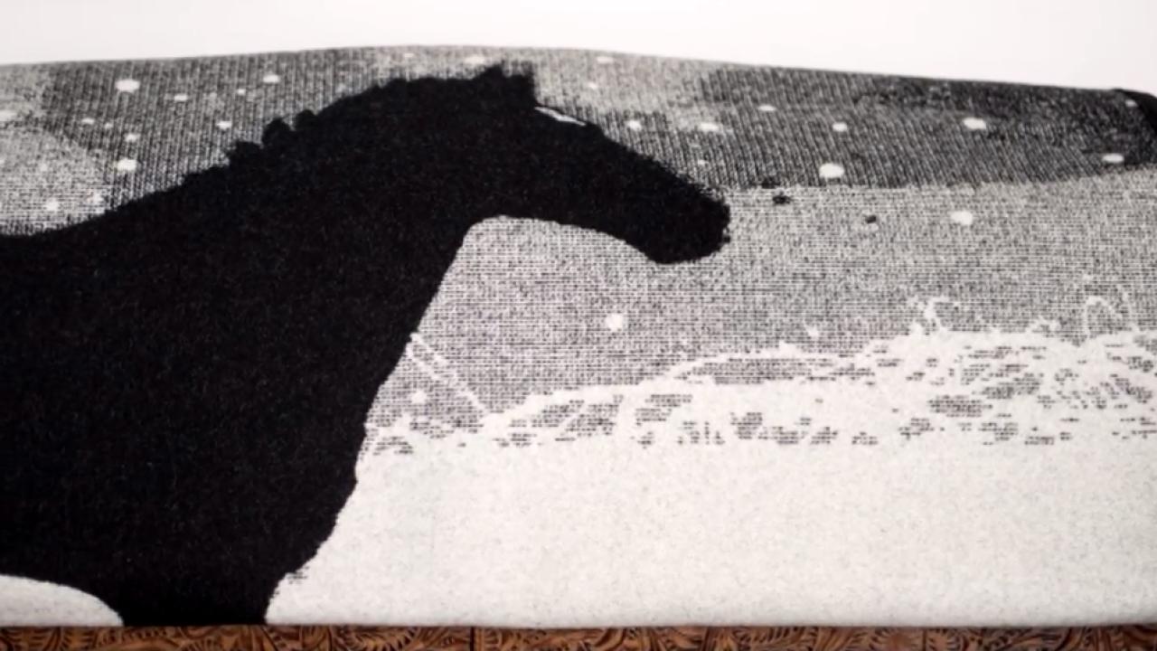 Painting by Billings artist selected by Pendleton Woolen Mills for blanket design