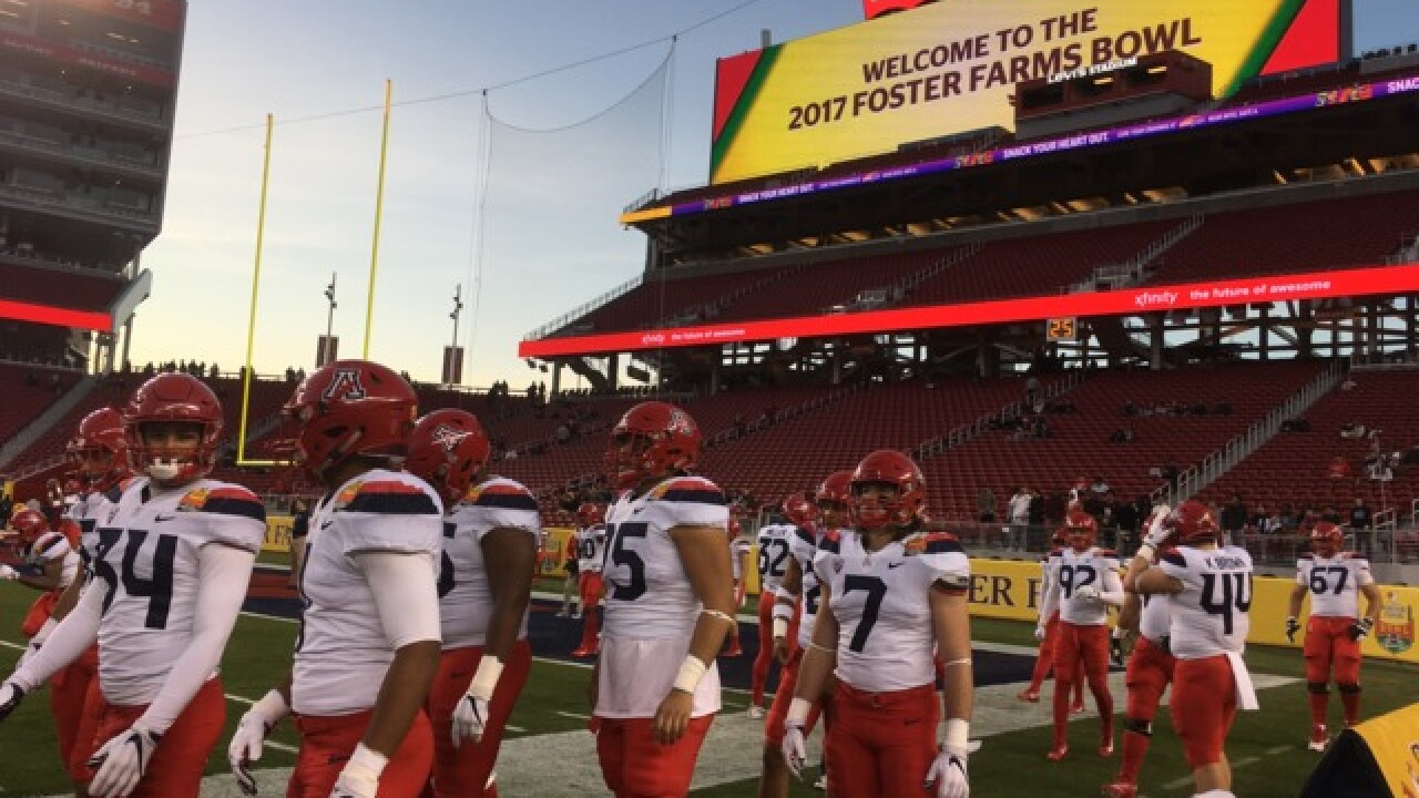 Arizona to meet Purdue in the Foster Farms Bowl