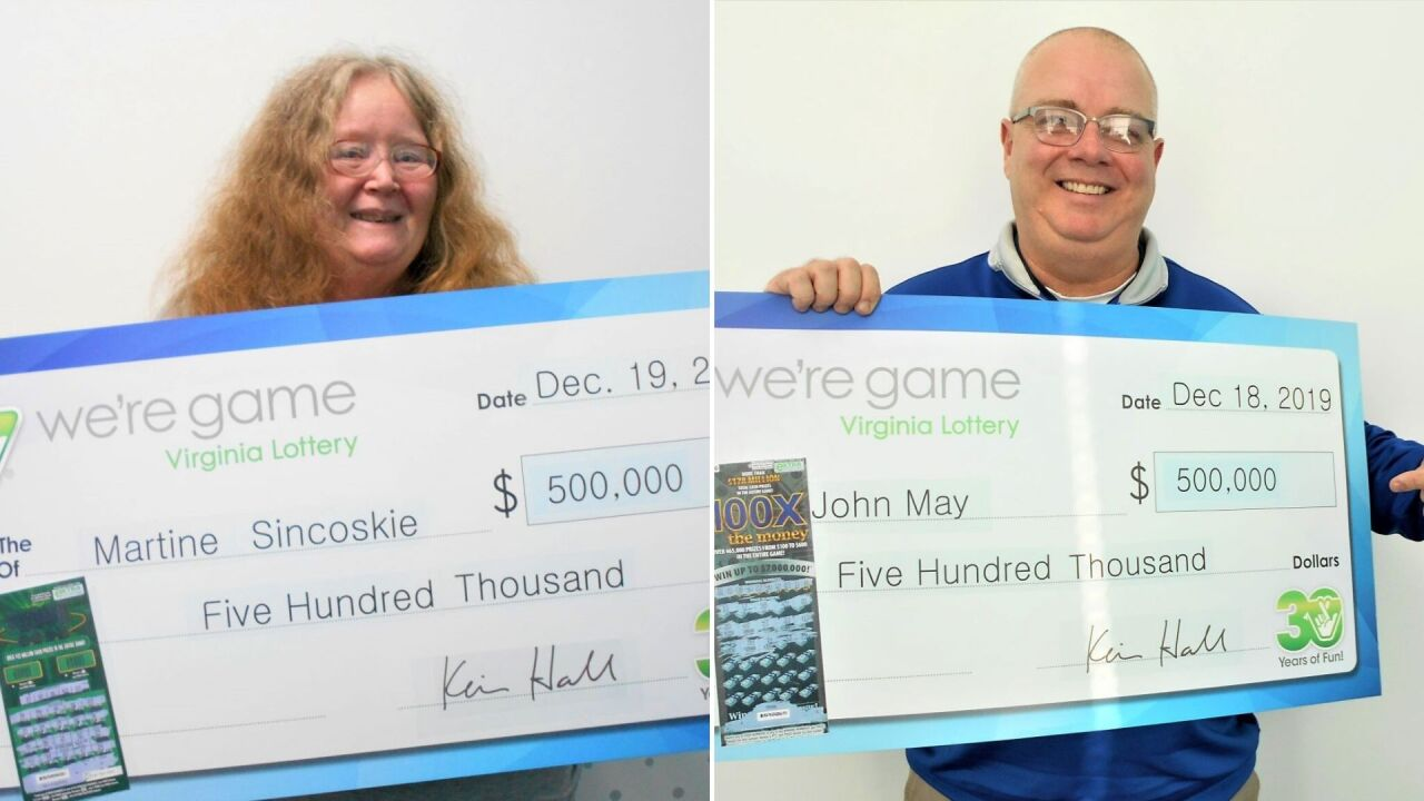 Two big lottery winners announced in Gloucester County and Poquoson
