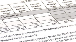 Reappraised property values, for tax purposes, increase in most counties