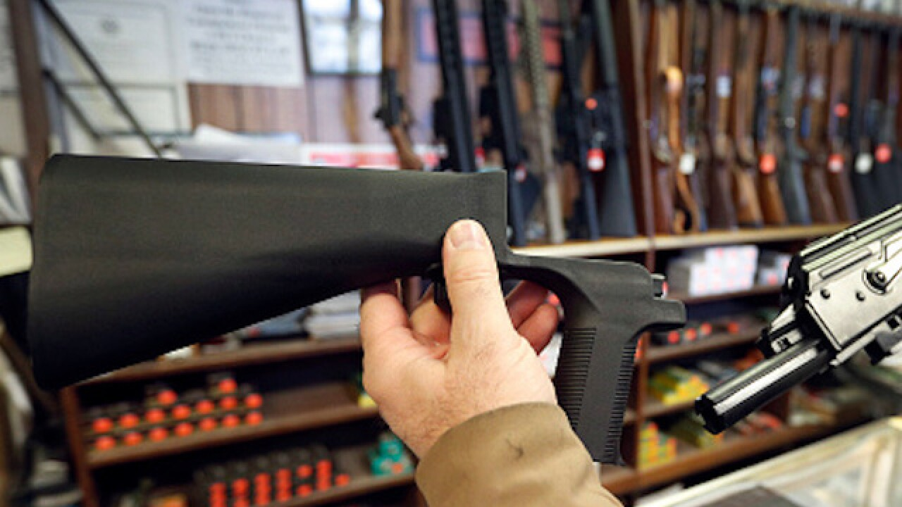 A month after the Las Vegas shooting, bump stocks are available again for purchase