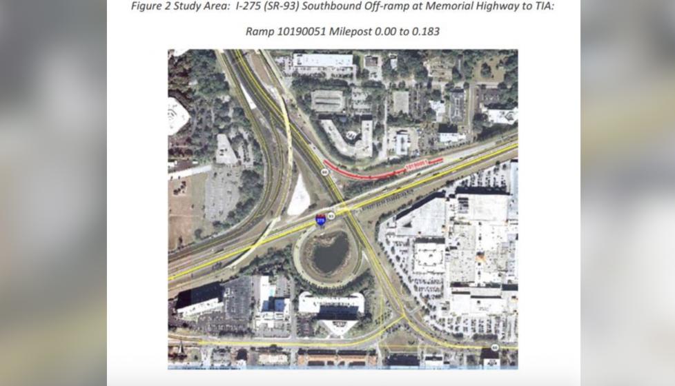 High Friction Surfacing  SB Off Ramp at Memorial Highway to TIA