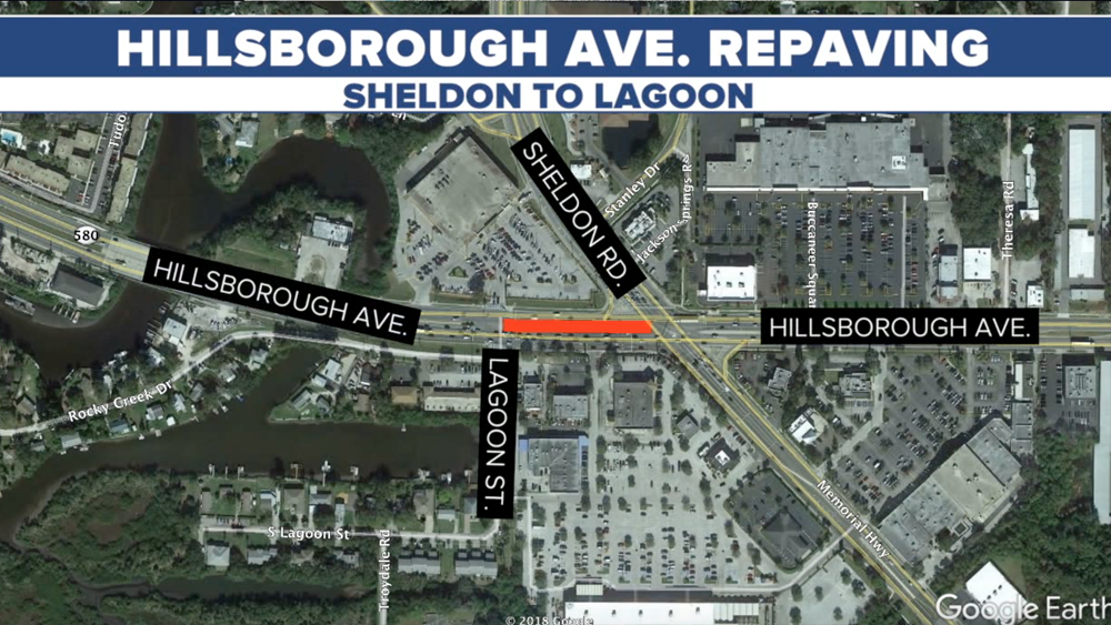 Hillsborough Avenue Repaving Sheldon to Lagoon