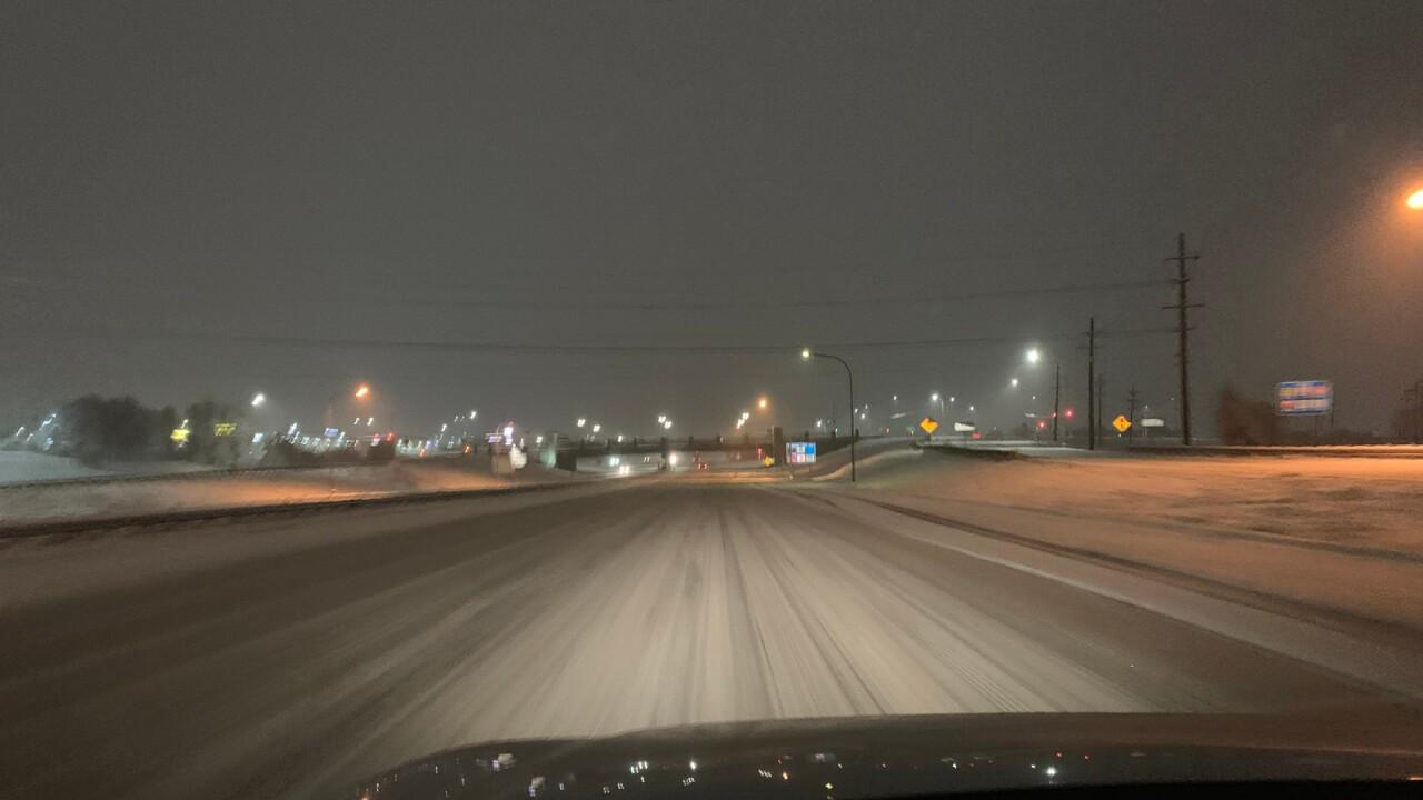 Snow on I-25