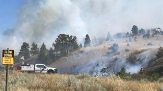 Several fires burning northwest of Helena