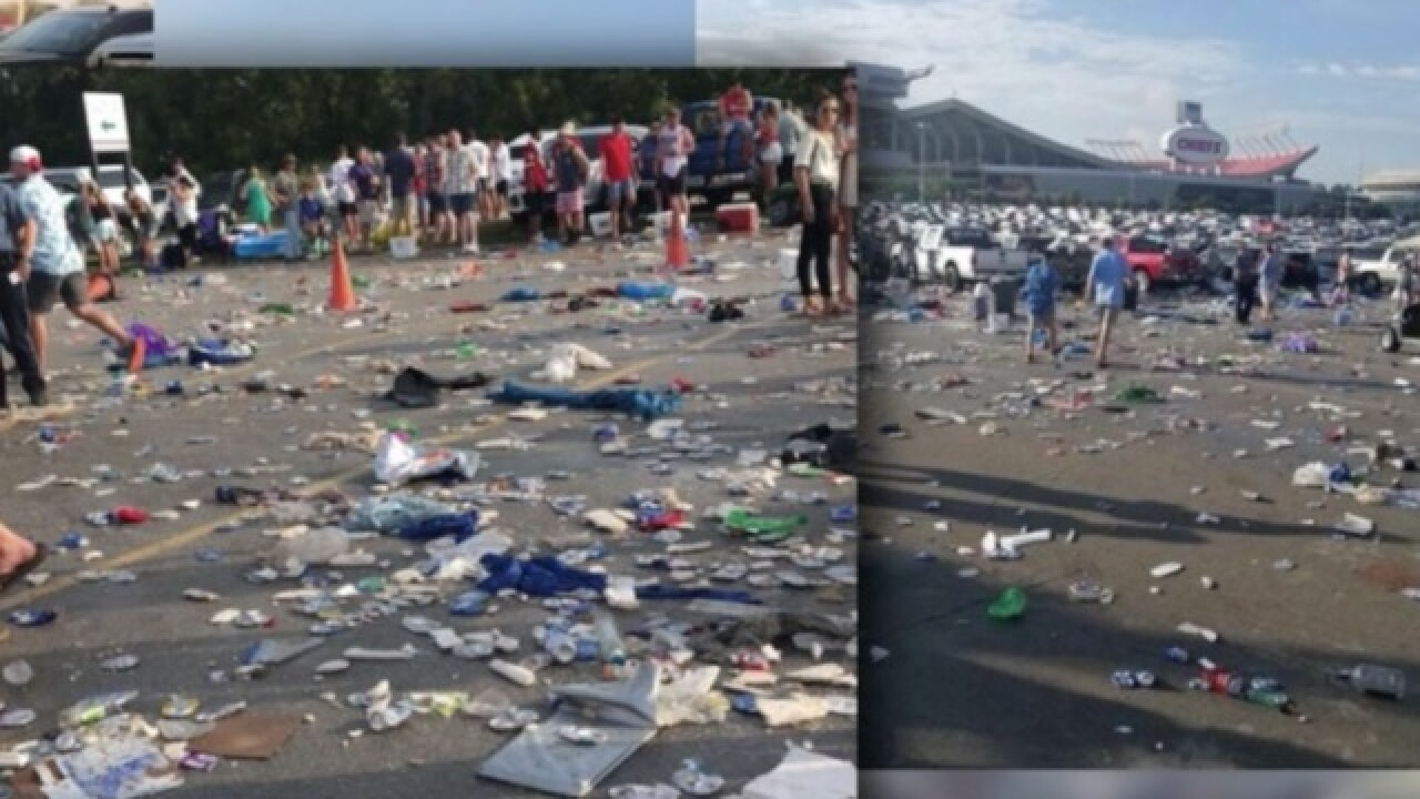 Arrowhead lot trashed after Chesney concert