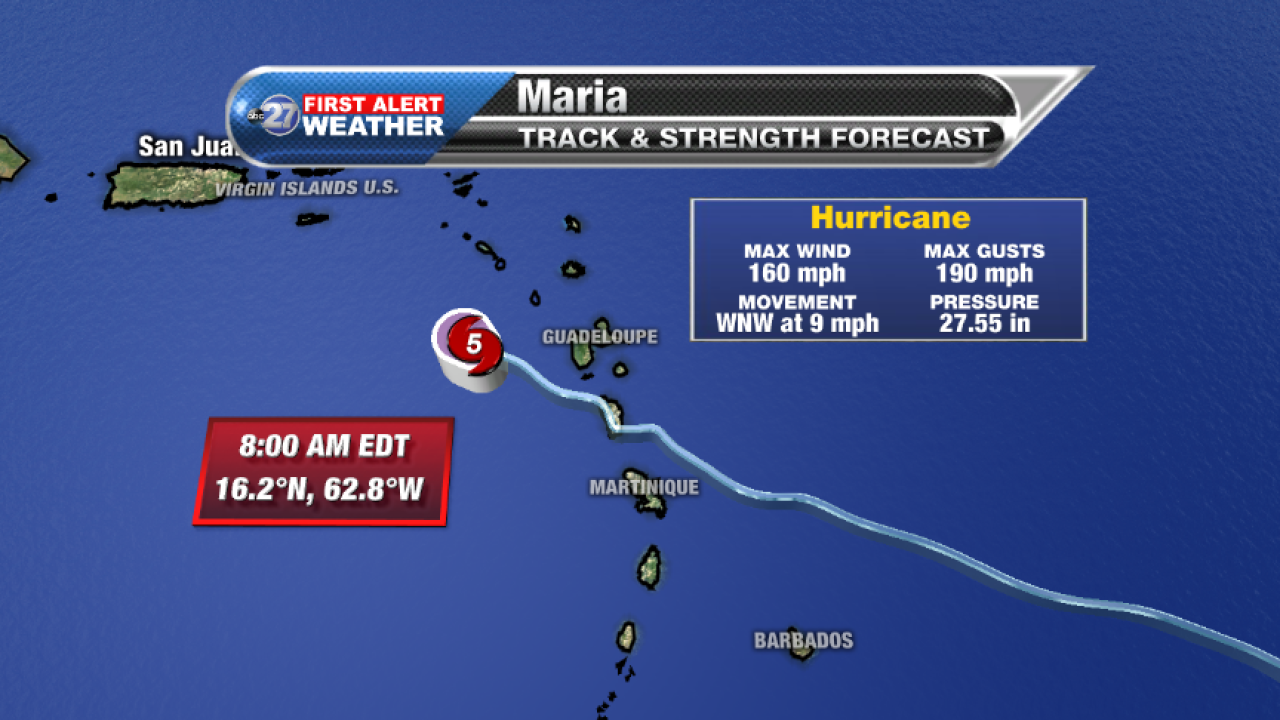 Hurricane Maria Advisory (8am 09/19/2017)